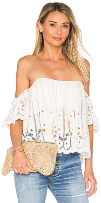 Tularosa Amelia Crop Top in White $158 thestylecure.com