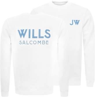 Jack Wills Fairford Graphic Sweatshirt White