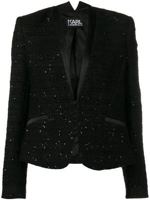 Karl Lagerfeld sequinned boucle blazer