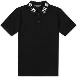 Alexander McQueen Gothic Collar Logo Polo