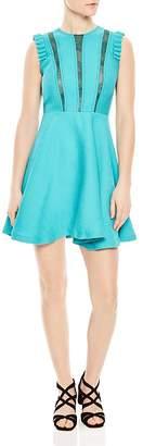 Sandro Enrika Lace-Inset Mini Dress