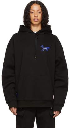 MAISON KITSUNÉ Black ADER error Edition The Blue Fox Hoodie
