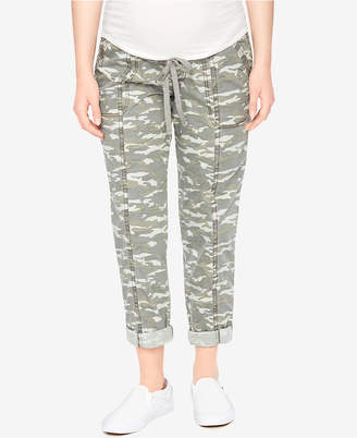 Motherhood Maternity Camo Cropped Pants $39.98 thestylecure.com