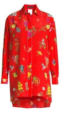 Etro Lucky Charms Red Tunic Blouse