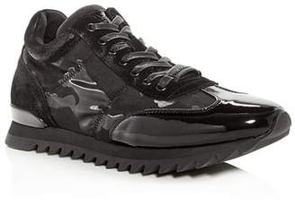 Karl Lagerfeld Paris Men's Suede & Patent Leather Lace Up Sneakers