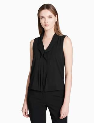 Calvin Klein ruffle v-neck sleeveless top