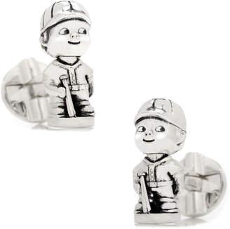 Cufflinks Inc. Baseball Bobblehead Sterling Silver Cuff Links