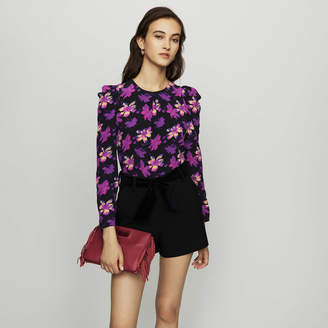 Maje Crepe top with floral print