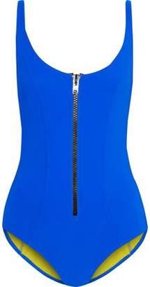 Lisa Marie Fernandez Zip-front Bonded Swimsuit