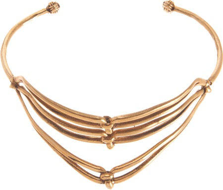 Aesa Brass Triple Knot Collar
