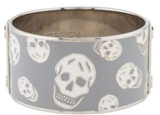 Alexander McQueen Large Enamel Skull Bangle