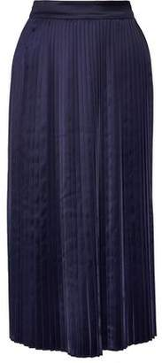 Elizabeth and James Lucy Pleated Satin Midi Skirt