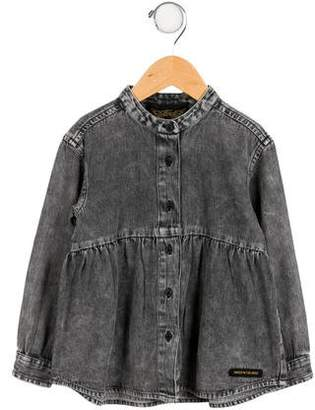 Finger In The Nose Girls' Toni Denim Top w/ Tags