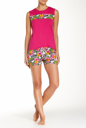 Hello Kitty Floral Fever Pajama Short Set $34 thestylecure.com