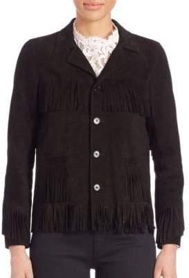 Saint Laurent Curtis Suede Fringe Jacket
