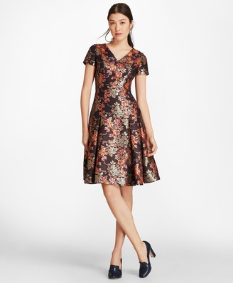 Brooks Brothers Floral Jacquard Dress