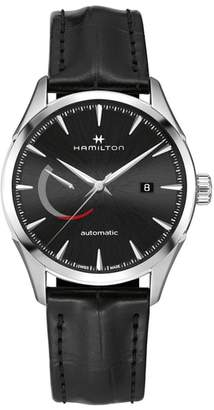 Hamilton Jazzmaster Automatic Leather Strap Watch, 42mm