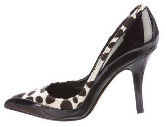 Michael Kors Pointed-Toe Ponyhair Pumps