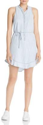 Bella Dahl Ruffle-Hem Button Shift Dress