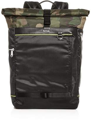 Paul Smith Naked Lady Camo Rolltop Backpack