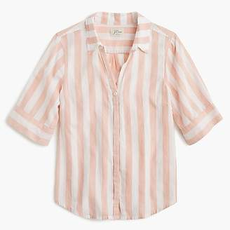 J.Crew Short-sleeve button-up shirt in wide stripe