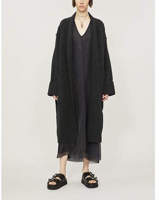 Isabel Benenato Oversized wool-blend coat