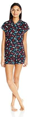 Cosabella Women's Bella Cap Sleve Top and Boxer Pj Set - Printed