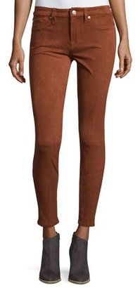 7 For All Mankind Knee-Seam Sueded Skinny Jeans, Cognac $199 thestylecure.com