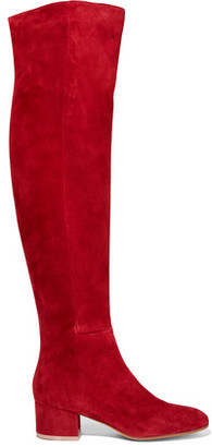 Gianvito Rossi Suede Over-The-Knee Boots
