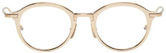 Thom Browne Gold TB 110 Glasses $750 thestylecure.com