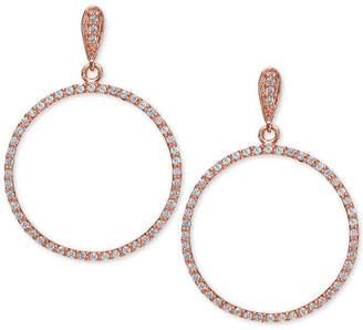 Giani Bernini Cubic Zirconia Circle Drop Earrings Set in Sterling Silver