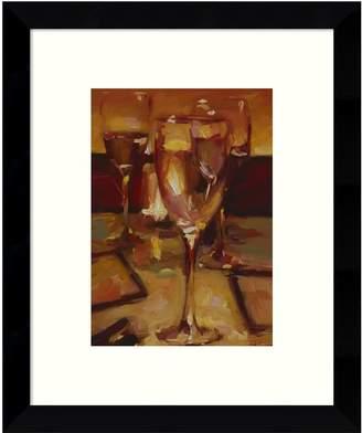 Amanti Art Wine Glasses Paris Framed Wall Art