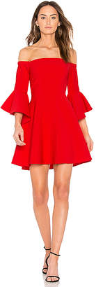 J.O.A. Bell Sleeve Off The Shoulder Dress in Red $95 thestylecure.com