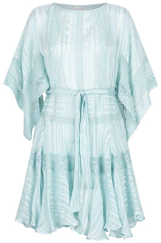 Whitewave Veil Mini Dress