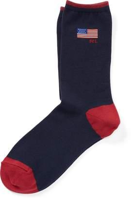 Ralph Lauren American Flag Trouser Socks