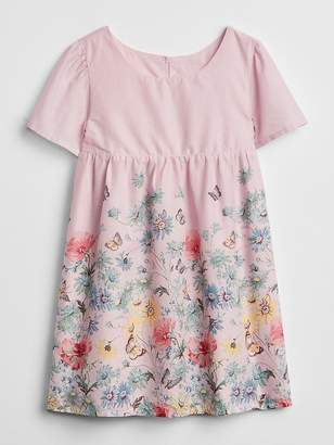 Gap Floral Short Sleeve Dress