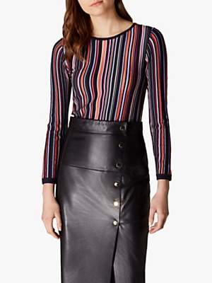 bd8bfeb31b4 Karen Millen Relaxed Stripe Knit Jumper