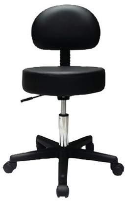 Fabrication Enterprises Air stool with back, black