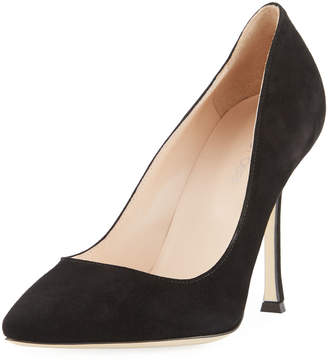 Sergio Rossi Secret Pointed-Toe Suede Pump