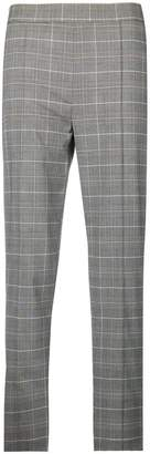 Pinko checked cropped trousers