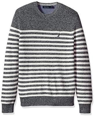 Nautica Men's Long Sleeve Classic Bretton Stripe Sweater