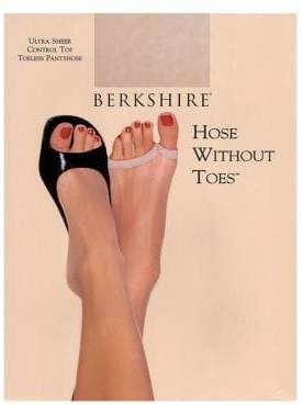 Berkshire Hose Without Toes Ultra Sheer Control Top Hosiery