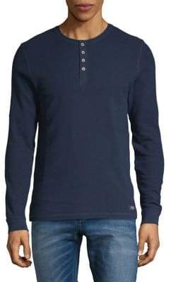 Esprit Long-Sleeve Cotton Henley