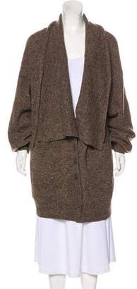 Stella McCartney Wool Shawl-Lapel Cardigan