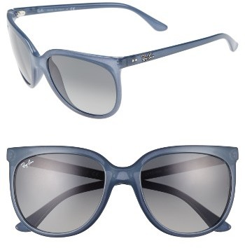 Women's Ray-Ban Retro Cat Eye Sunglasses - Black/ Black