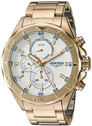 Armitron Men's 20/5178WTGP Multi-Function -Tone Bracelet Watch