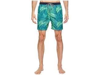 Scotch & Soda Medium Length Swim Shorts in Fine Peached Quality with Pattern Men's Swimwear