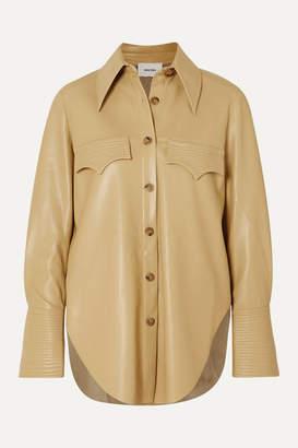 Nanushka Elpi Vegan Leather Shirt - Neutral