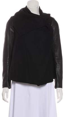 AllSaints Wool Mock Neck Jacket