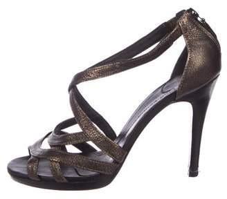 Diane von Furstenberg Leather Zip Sandals